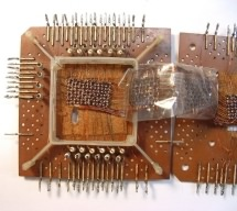 Core memory opened up, lower board