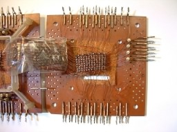 Core memory opened up, top board