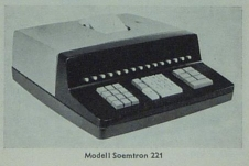 Early model Soemtron ETR 221, ©2009 Serge Devidts, click image for a larger version