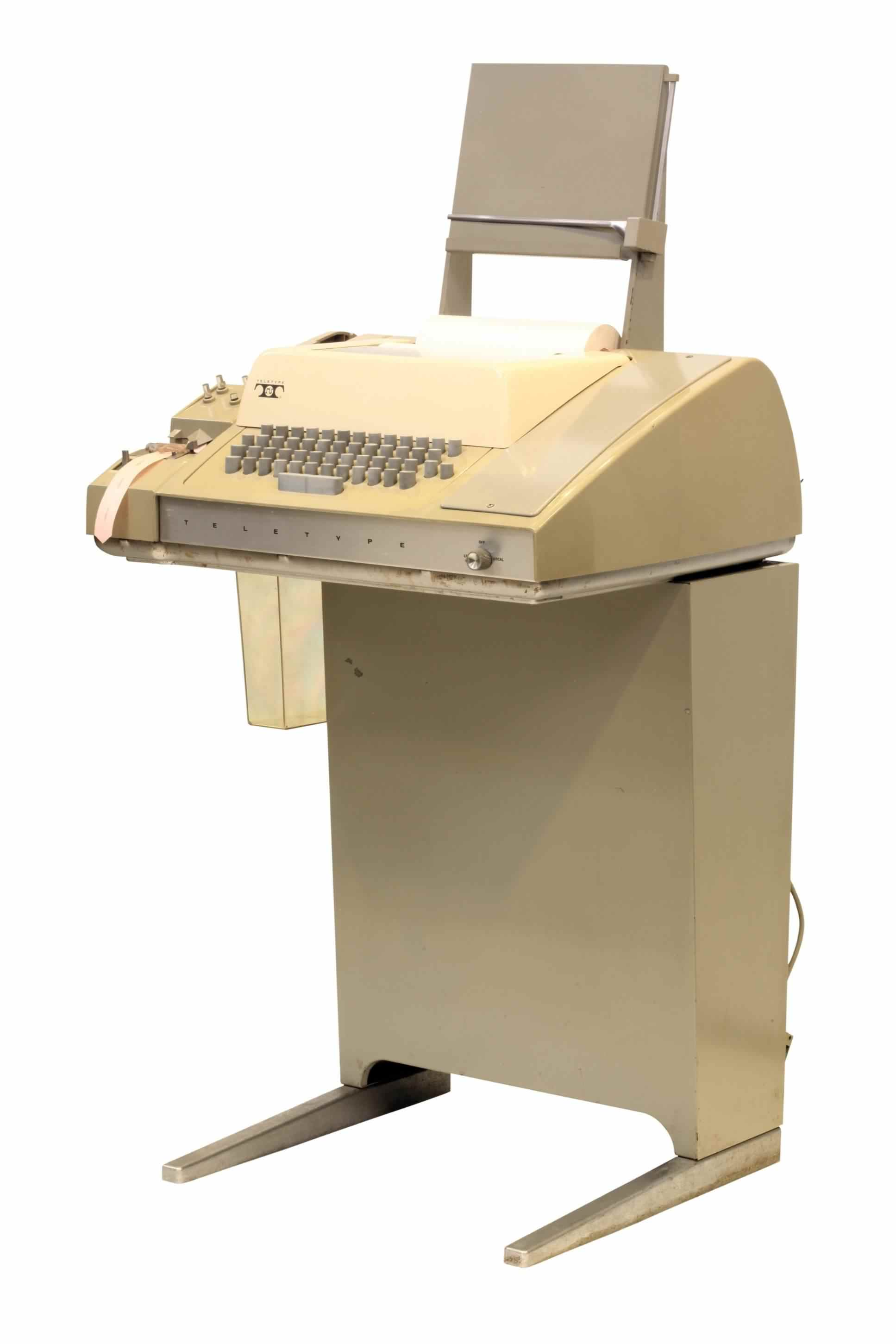 Teletype Corporation model 33, click for a larger image, photo licensed for reuse CCASA2.0